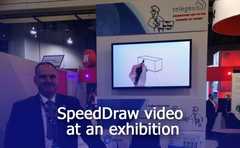 Speed Draw video at an exhibition