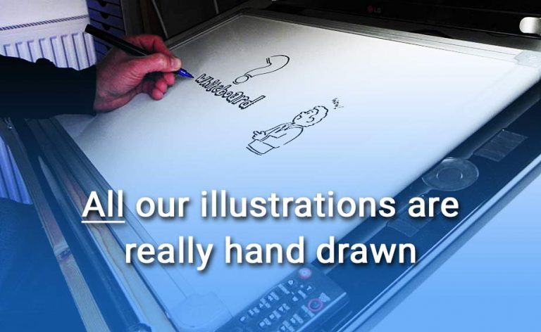 Our Speed Draw video illustrations are really hand drawn